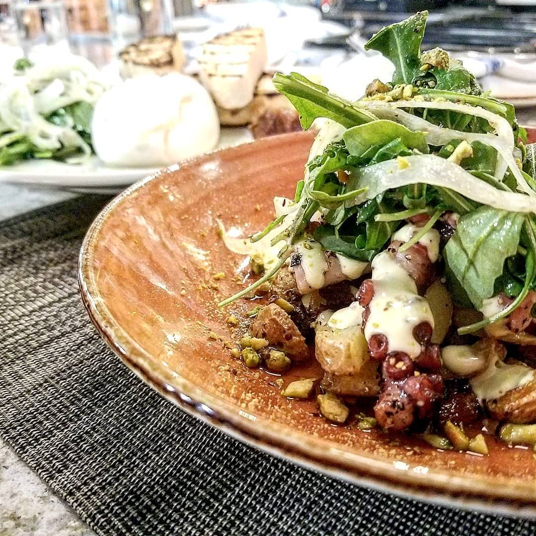 This Octopus Atop With Burrata By Jianna Greenville Is A