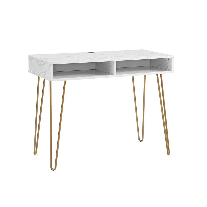 This Target Desk Looks Way More Expensive Than It Is Target Desk Desk Storage White Marble