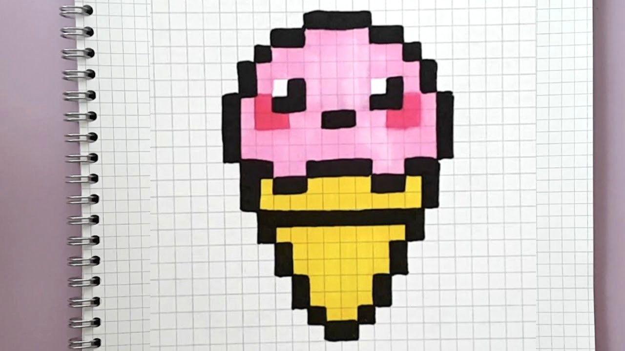 Glace Kawaii En Pixel Art Tuto Facile Youtube Avec Maxresdefault Et Pixel Art Facile Et Rapide 3 1280x720px Pixel Pixel Art Pixel Art Tuto Coloriage Pixel Art