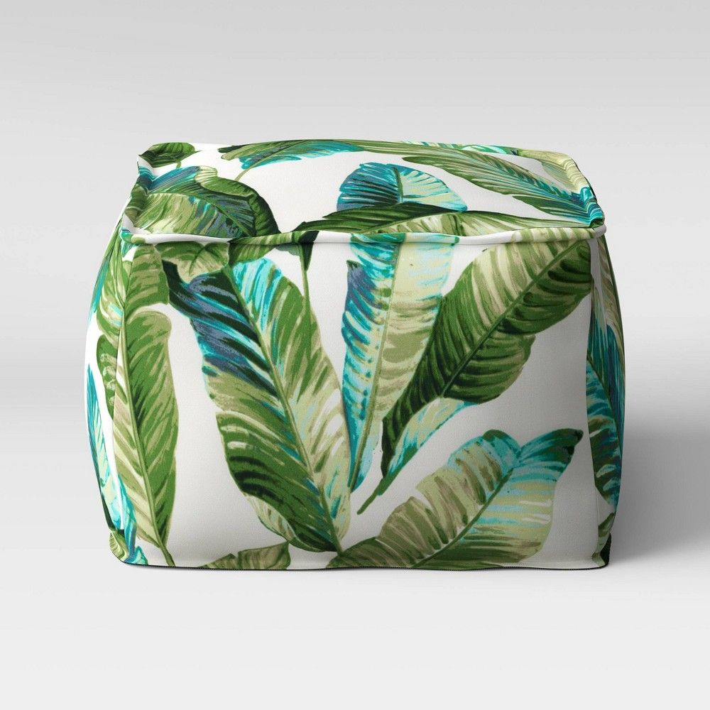 Vacation Tropical Outdoor Pouf Green Threshold In 2020