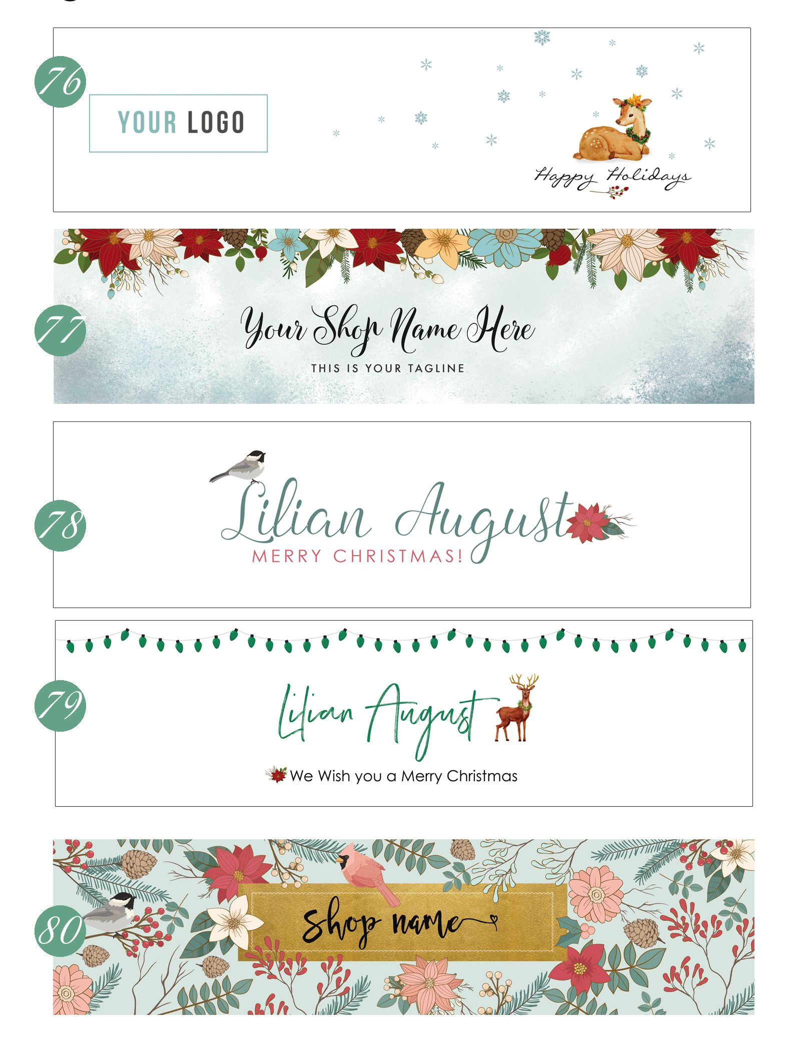 Christmas Blog Header/ Christmas Banner | Christmas cover photo ...