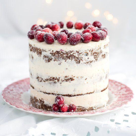 Festive Cranberry, Orange And Walnut Layer Cake With