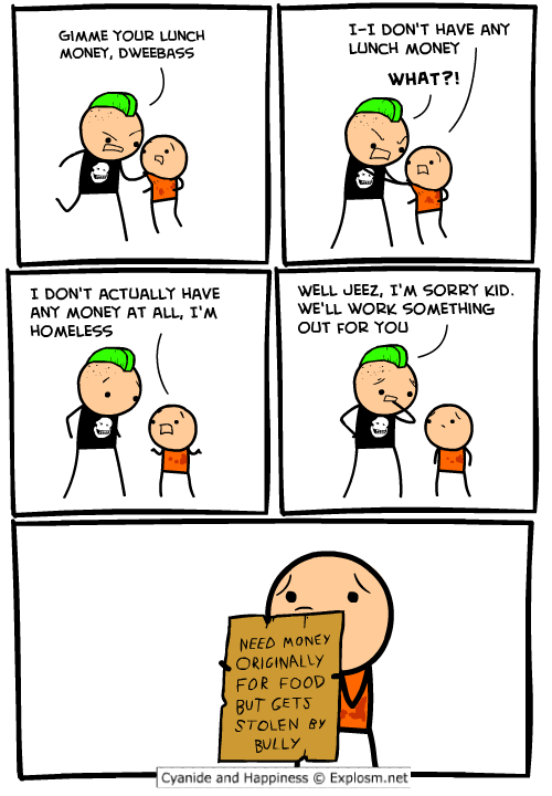 Sorry, Cyanide comic strip apologise