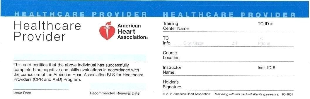 American Heart Association Healthcare Provider Cpr Card Template 11 Top Risks Of Attending A Cpr Card American Heart Association Heart Association