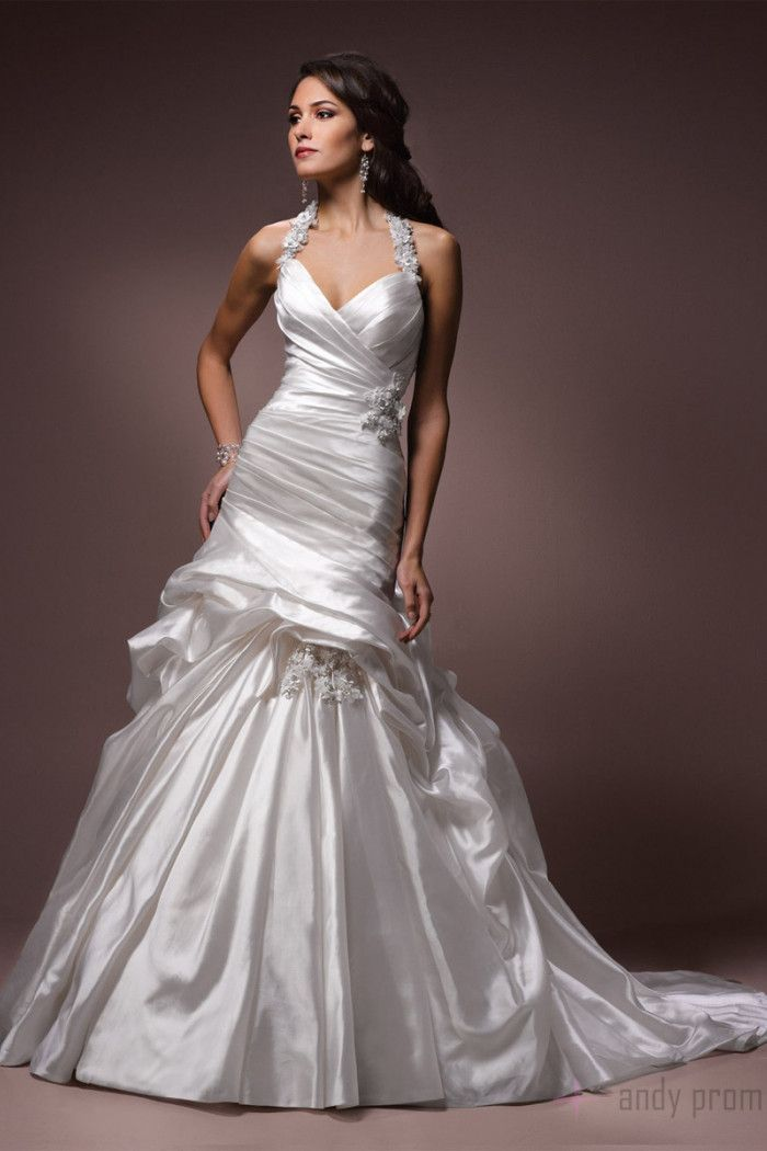 Taffeta Royal Ball Gown Wedding Dresses