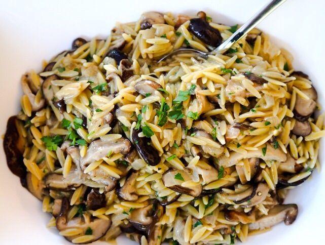 Orzo With Shiitake Mushrooms Recipe Shiitake Mushrooms Recipes Stuffed Mushrooms Mushroom Recipes