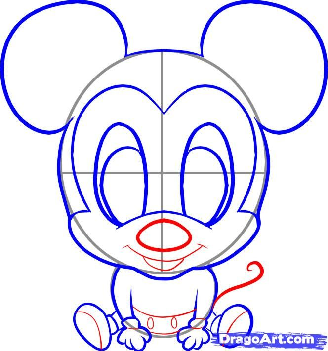 how to draw chibi mickey step 5