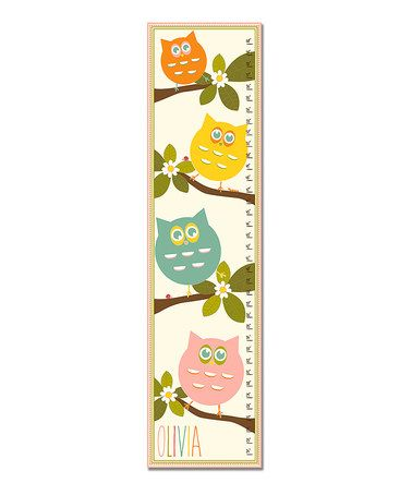 Love this Owl Stack Personalized Growth Chart on #zulily! #zulilyfinds