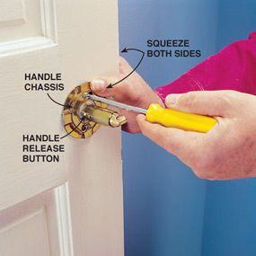 Repairing A Loose Door Handle Door Handles Repair Door Repair