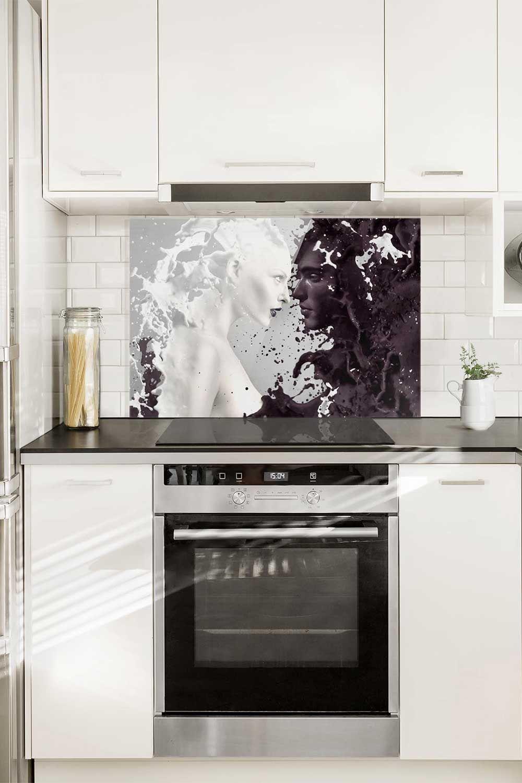 Idee originali per #cucina ➔ Pannello paraschizzi in vetro ...