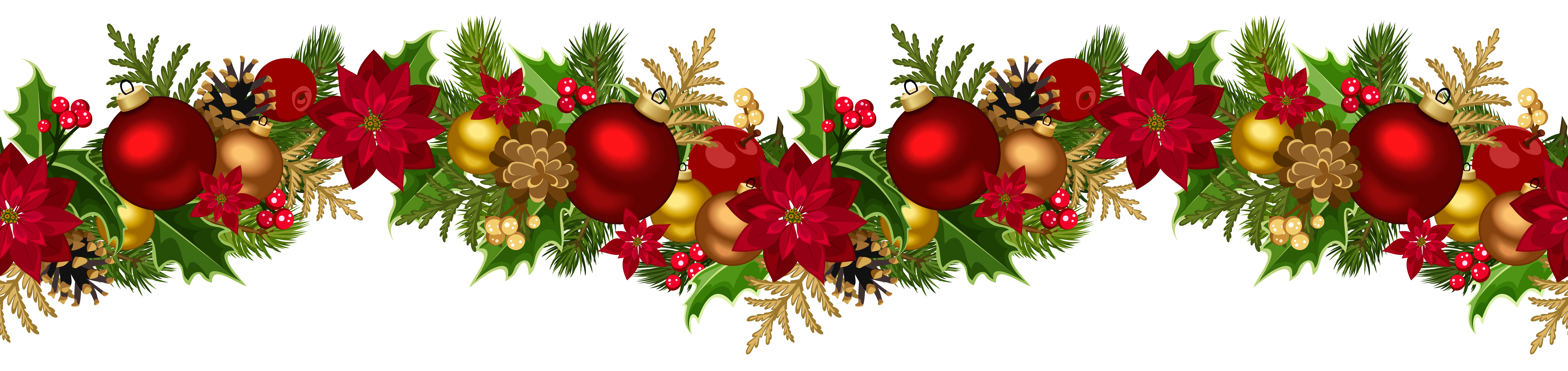 Christmas Decorative Garland PNG Clip Art Image | design ...