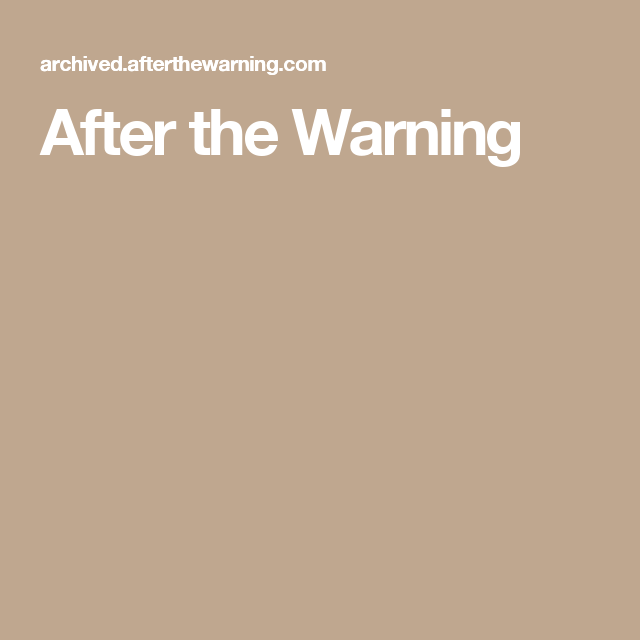 After the Warning