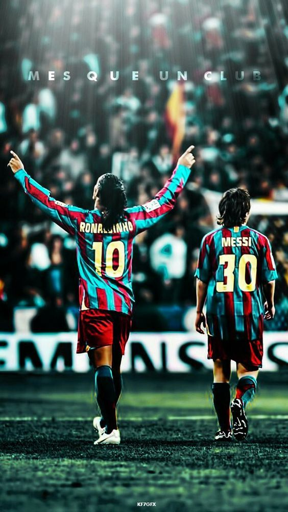 Ronaldinho E Messi Jogadores De Futebol Caras Do Futebol Lendas Do Futebol