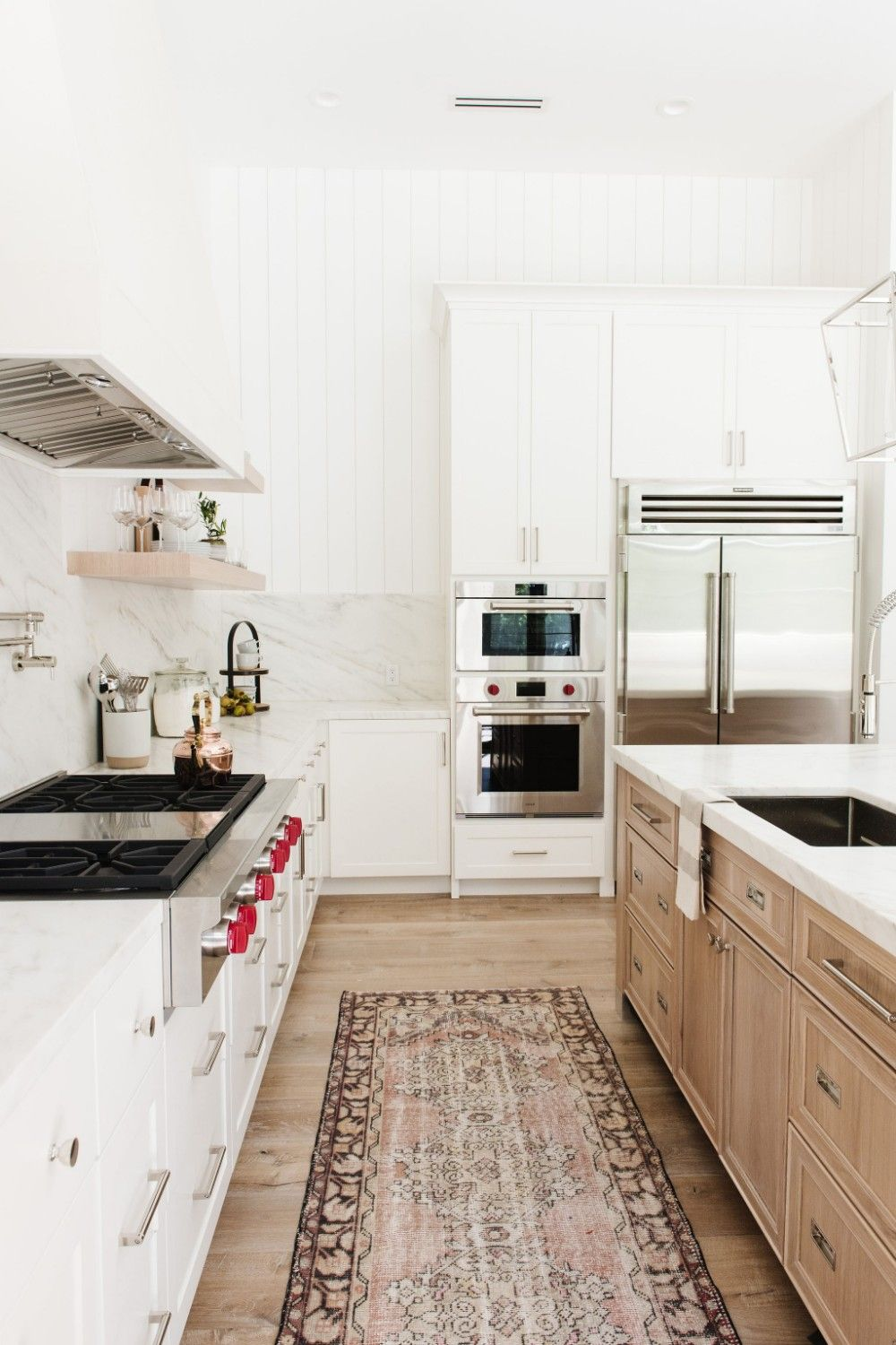 White kitchen with open shelving studio mcgee also amber interiors client say no morrison all sorts of rh pinterest