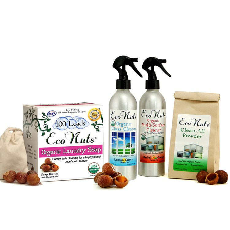 Eco Nuts Complete Natural Organic Cleaning Set Organic Cleaning