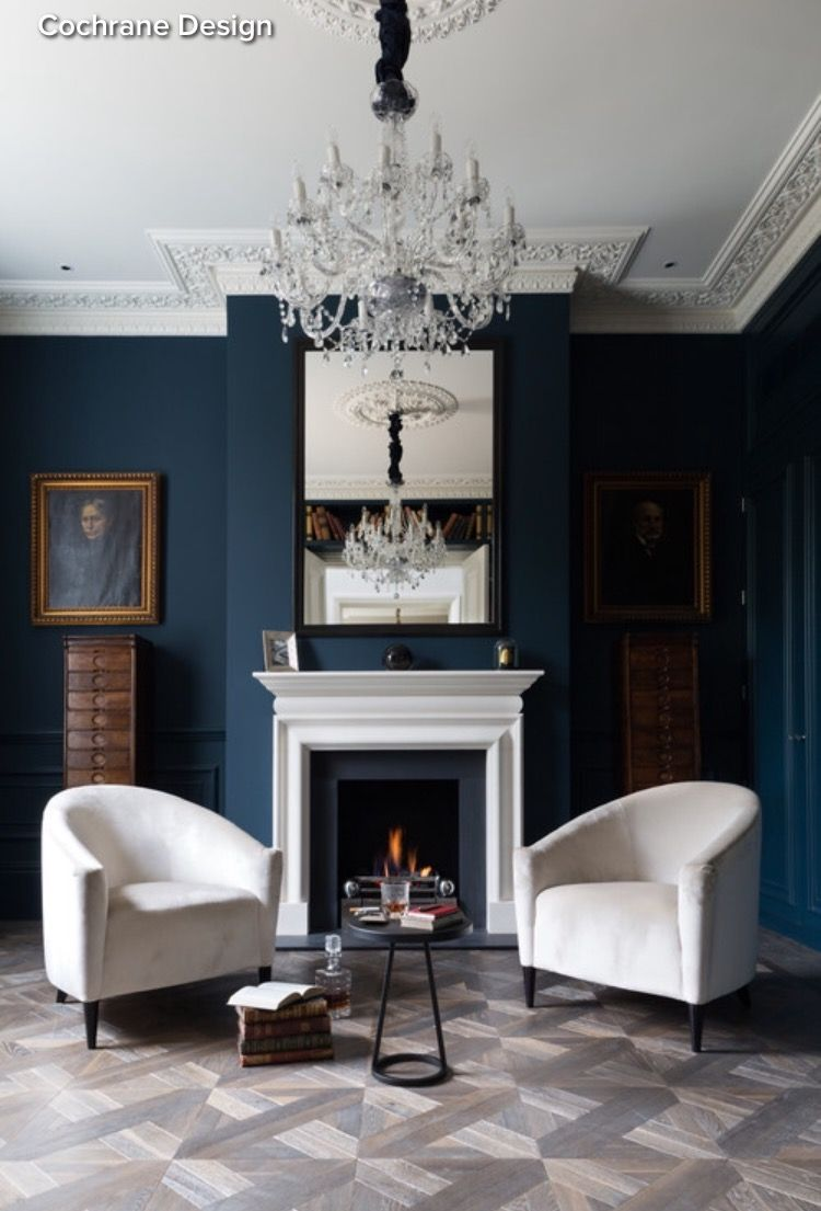 Best Hague Blue London Living Room Dark Living Rooms 400 x 300