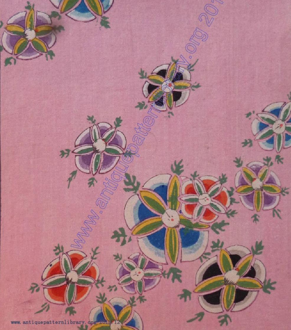 Kimono fabric patterns  Japanese woodblock print pages