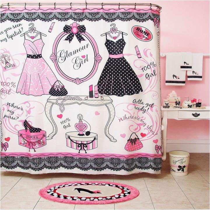 Homewear Glamour Girl Shower Curtain Bathroom Accessories