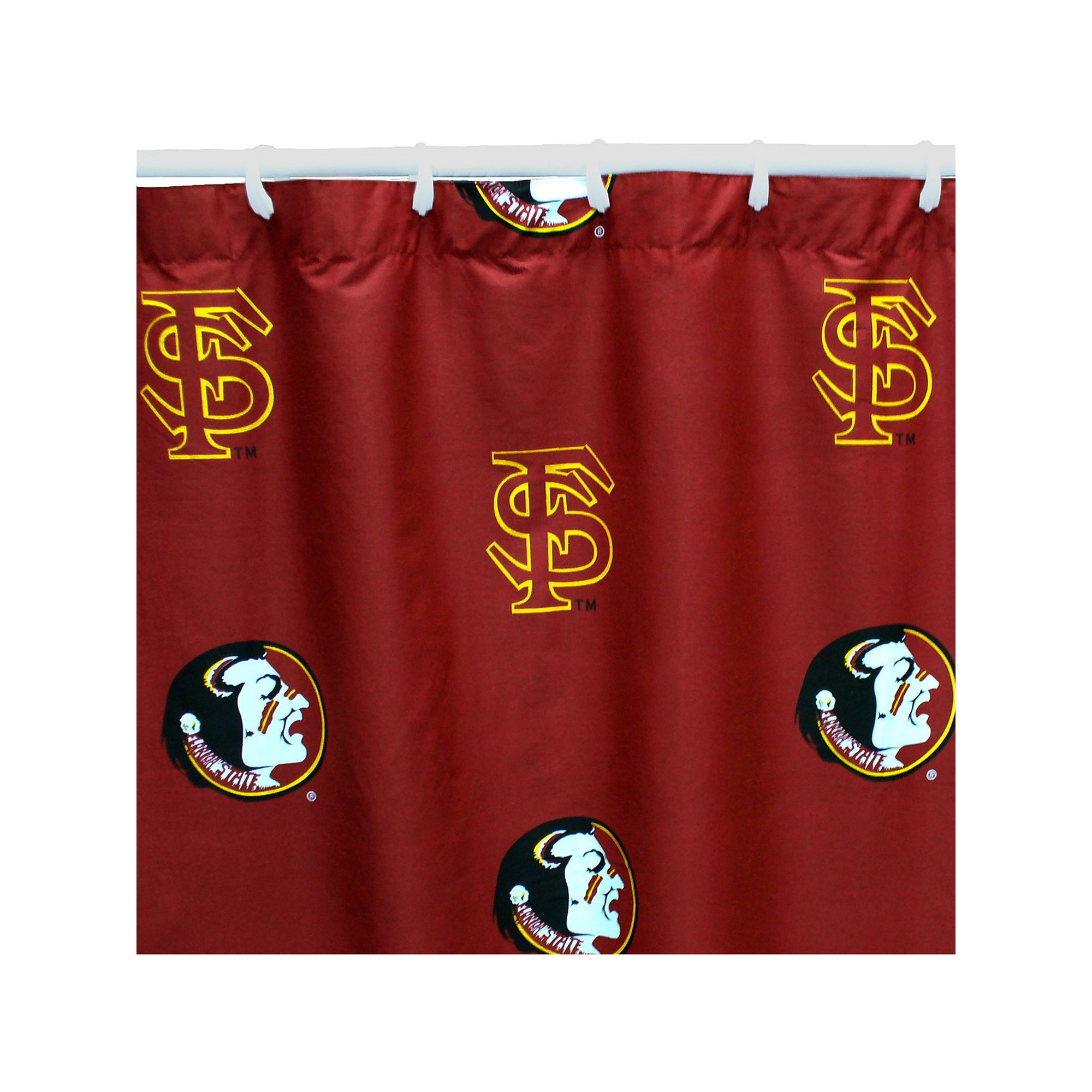 College Covers Florida State Seminoles Printed Shower Curtain