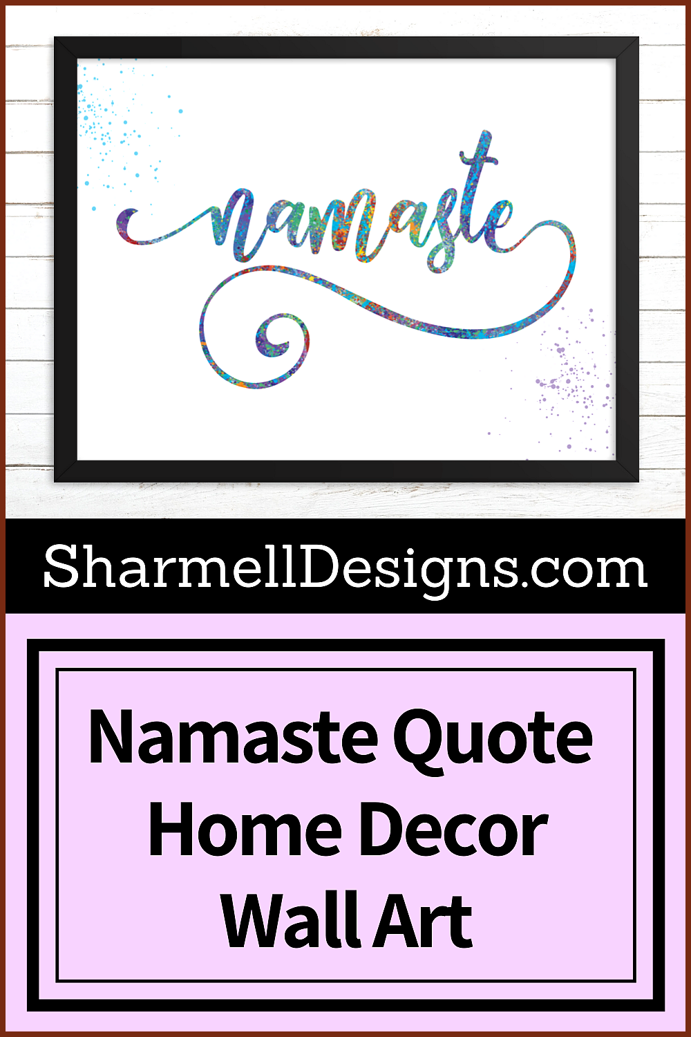 Magenta Fitness Gorgeous printable wall art  Namaste  quote Perfect inspirational quote for home acc...