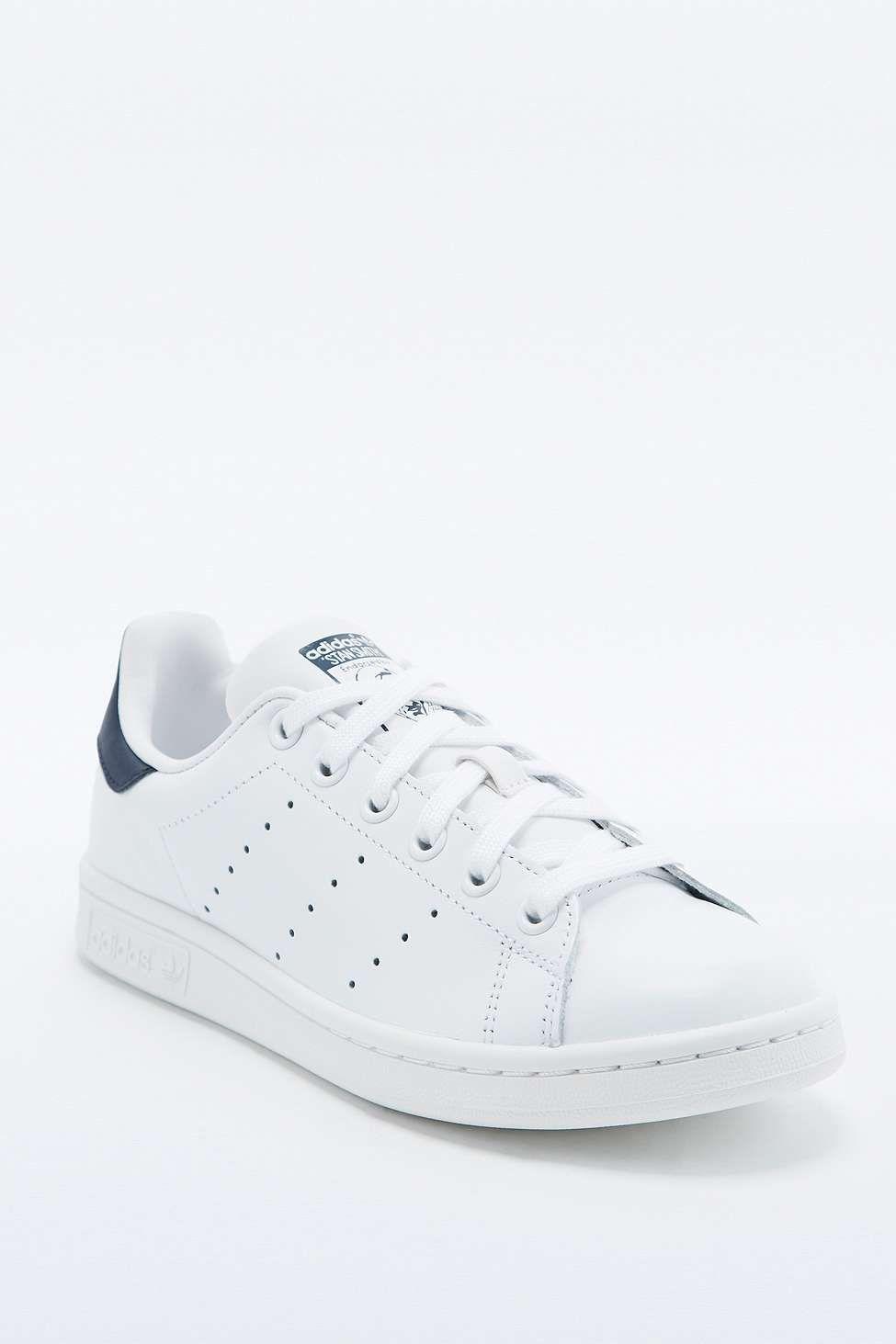 acheter populaire 5e3c6 1ee95 adidas Originals - Baskets Stan Smith blanches et bleu ...