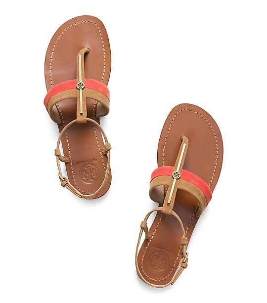d46e1ce25 New Women s Designer Shoes for Winter. Tory Burch Bar Logo Flat Sandal