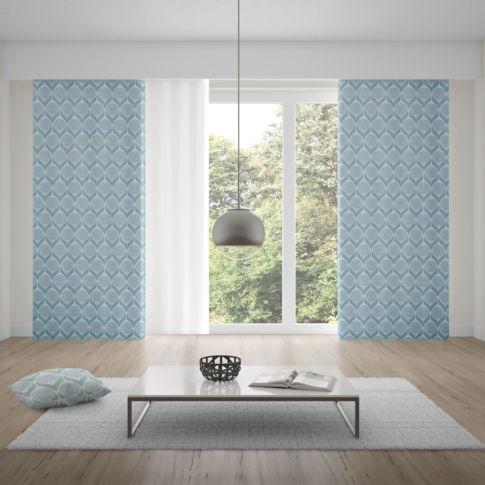 Made To Measure Curtains Blomma Light Blue Kuushti Made To Measure Curtains Scandinavian Curtains Blue Curtains