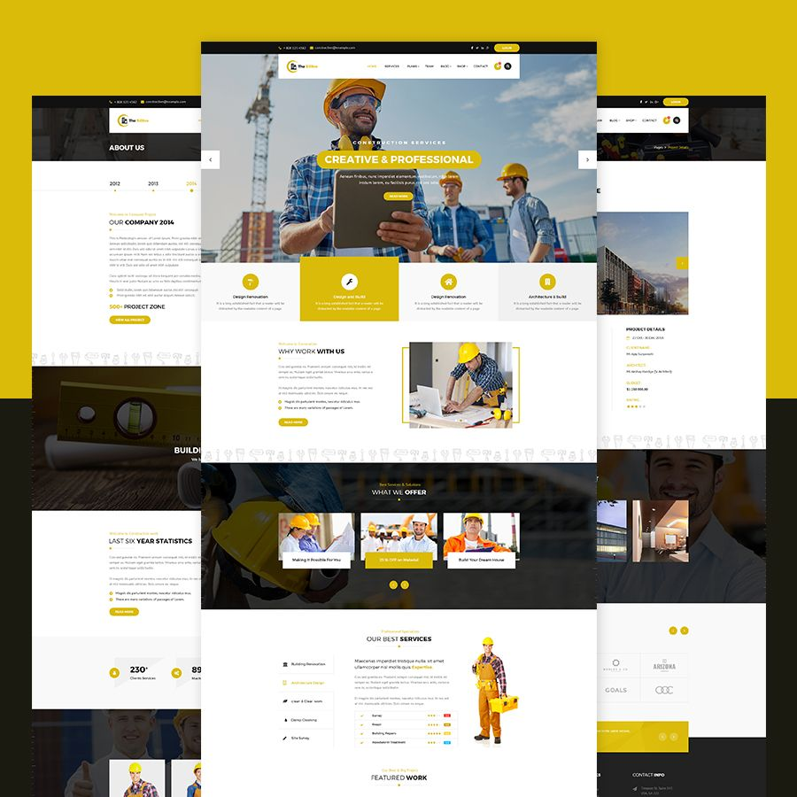 The Billtro Construction Psd Template Architecture Build Building Company Construction Constructor Cont Psd Templates Templates Html Templates