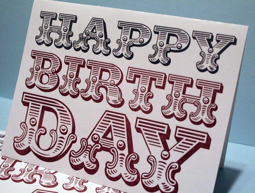 Happy Birthday Fonts ~ Happy birthday circus font card. typography pinterest happy