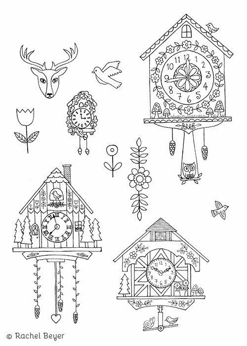 Cuckoo Clocks Clock Craft Cuckoo Clock Tattoo Clock Printable