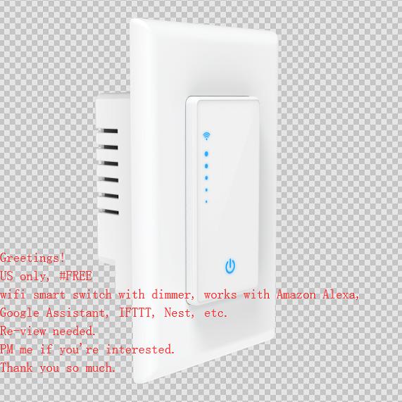 Free Wifi Smart Light Switch Fan Speed Control Switch Smart Switches Smartphone Apps Fan Light Switch