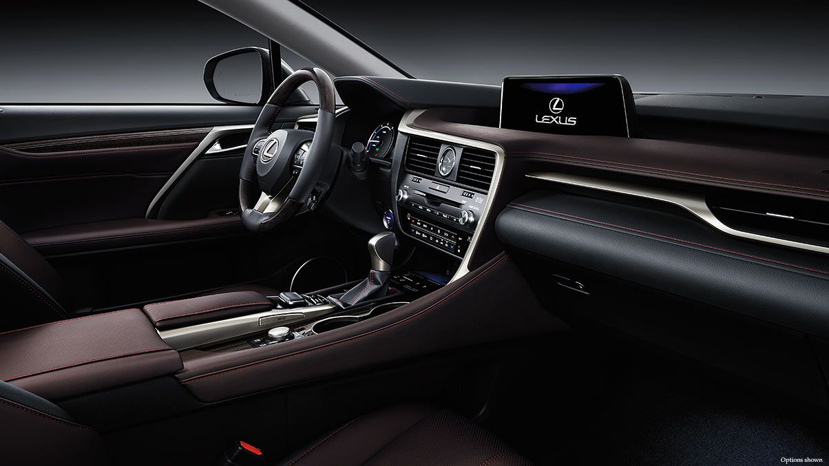 Interior Shot Of The 2017 Lexus Rx Shown With Noble Brown Leather Trim Lexus Rx 350 Interior Lexus Rx 350 Luxury Crossovers