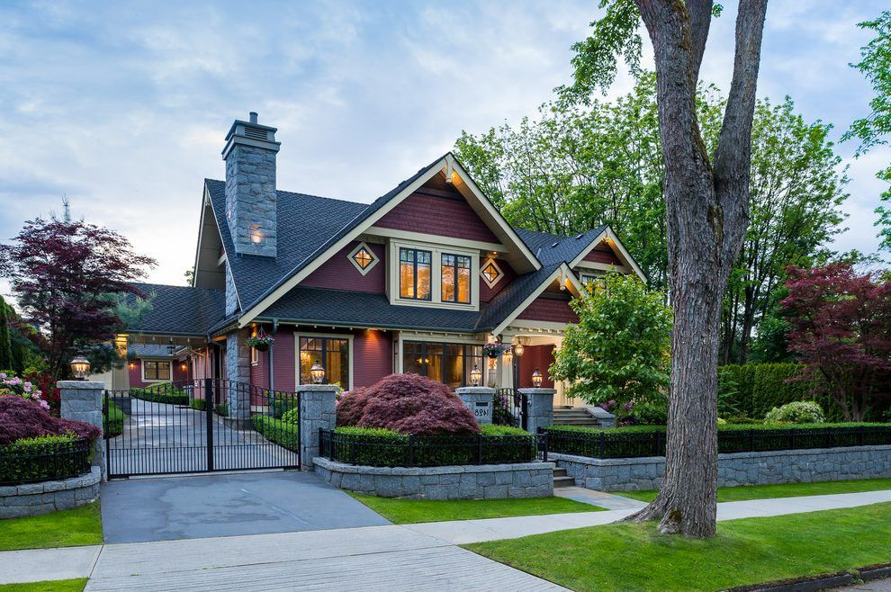 Curb Appeal Design Exterior Craftsman With Red Siding Pane Glass Extraordinary Craftsman Home Interior Design Exterior