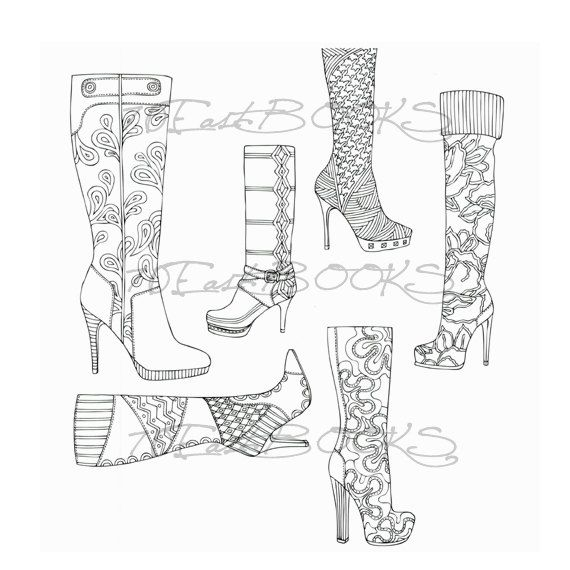 High heel boots colouring : Michela's Dressed Room