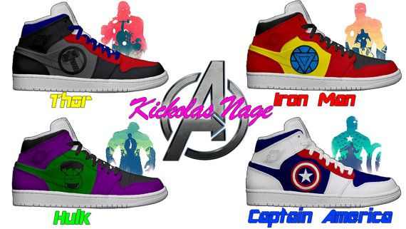 9f2a00fa10a57 Men's Light Up Avengers Shoes | Fashion | Shoes, Light up shoes ...