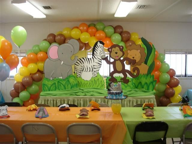 jungle baby shower theme time for the holidays jungle theme baby shower  decorations fun and easy