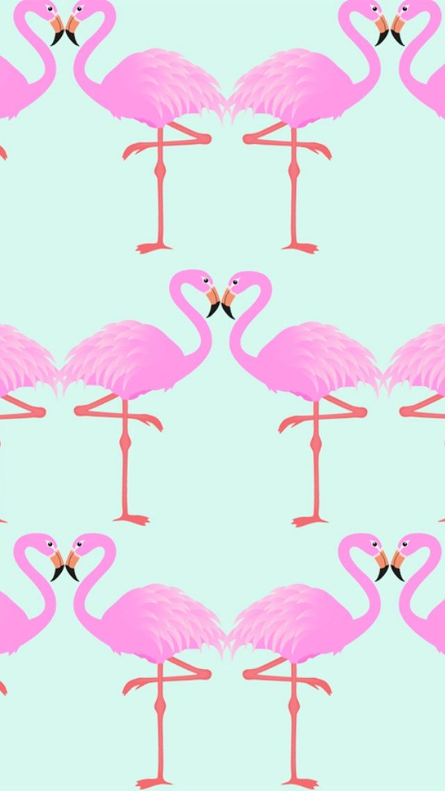 Pink flamingo ★ Download more cute Pink iPhone + Android