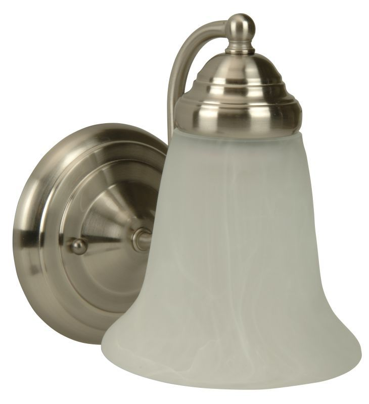 Photo of Craftmade 15305BN1 Brushed Nickel Cathryn 9″ Tall 1 Light Bathroom Wall Sconce