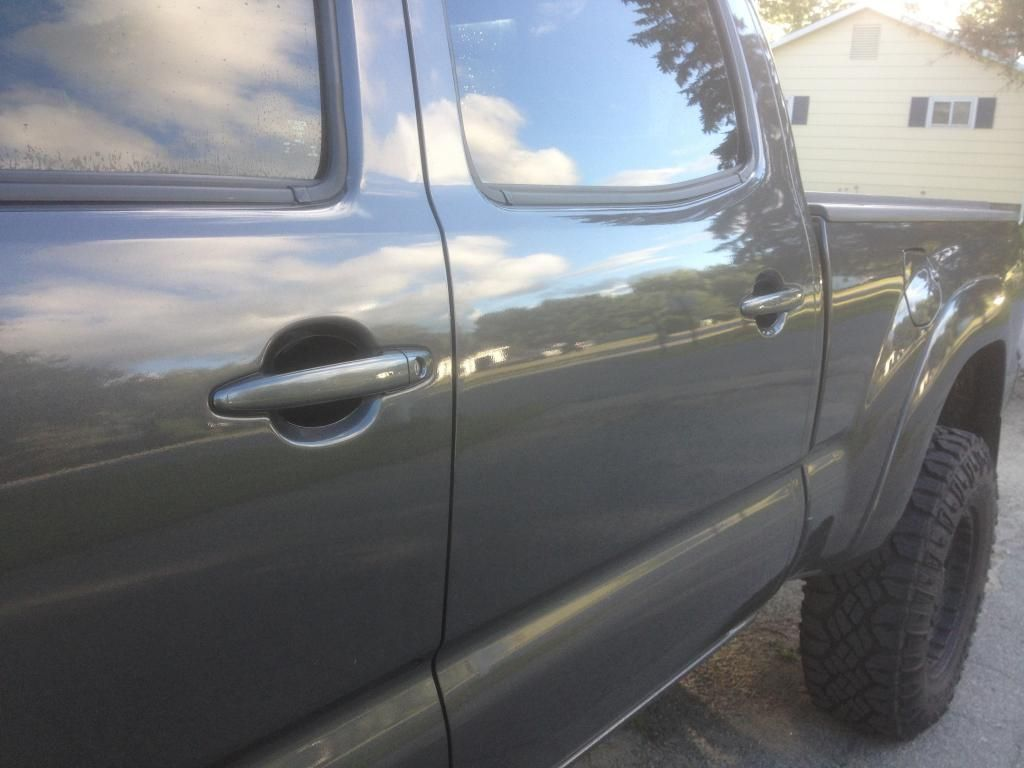 Toyota Tacoma with Cupeez for Cars door handle scratch covers