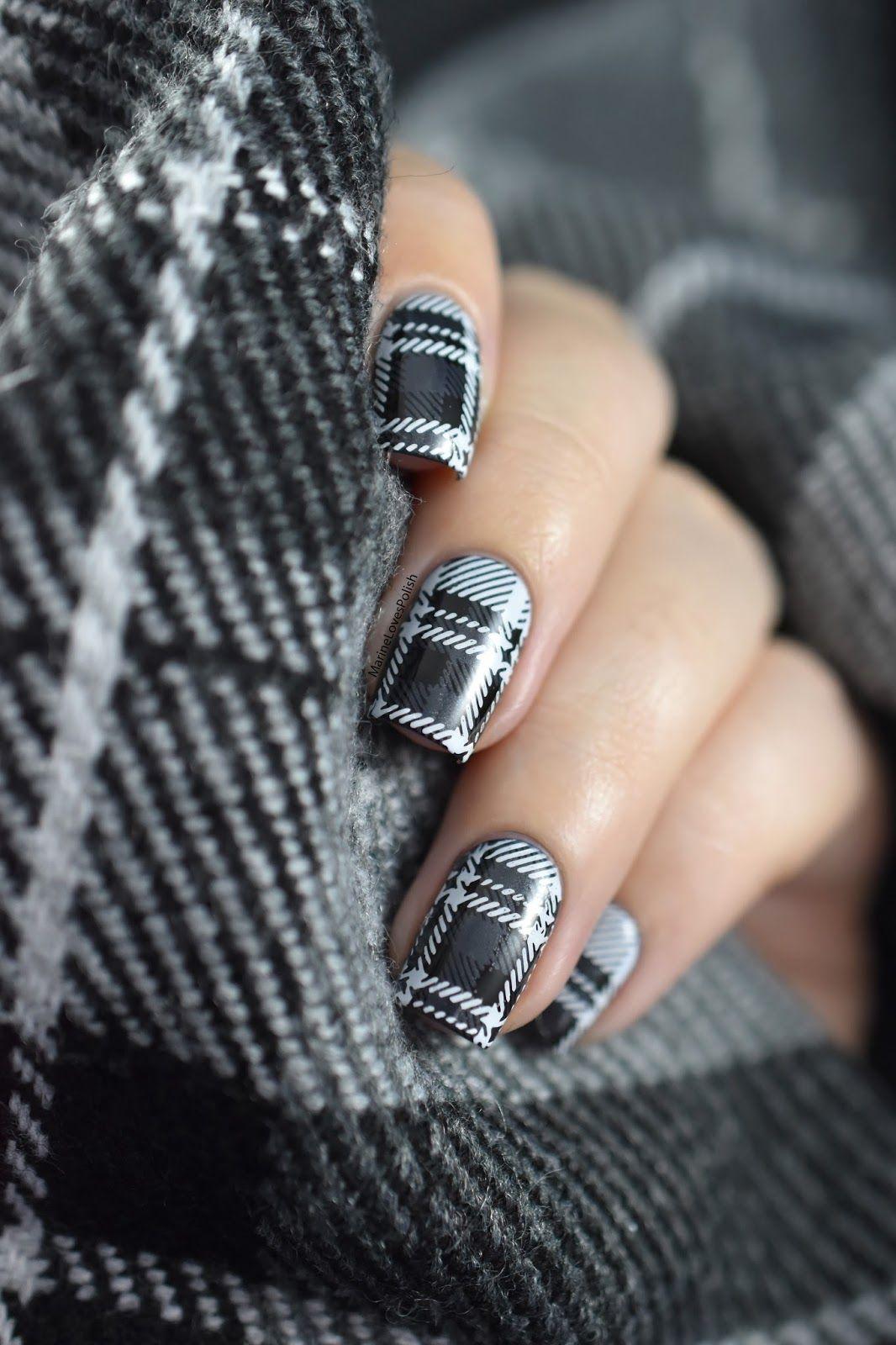Tartan plaid nail art tutorial nails pinterest plaid nails