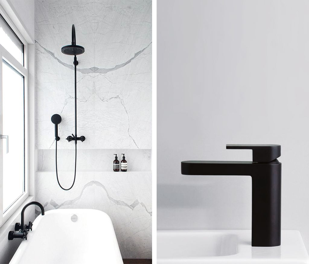 White Bathroom Taps inspiration: black tapware in the bathroom | faucet, bath and ware