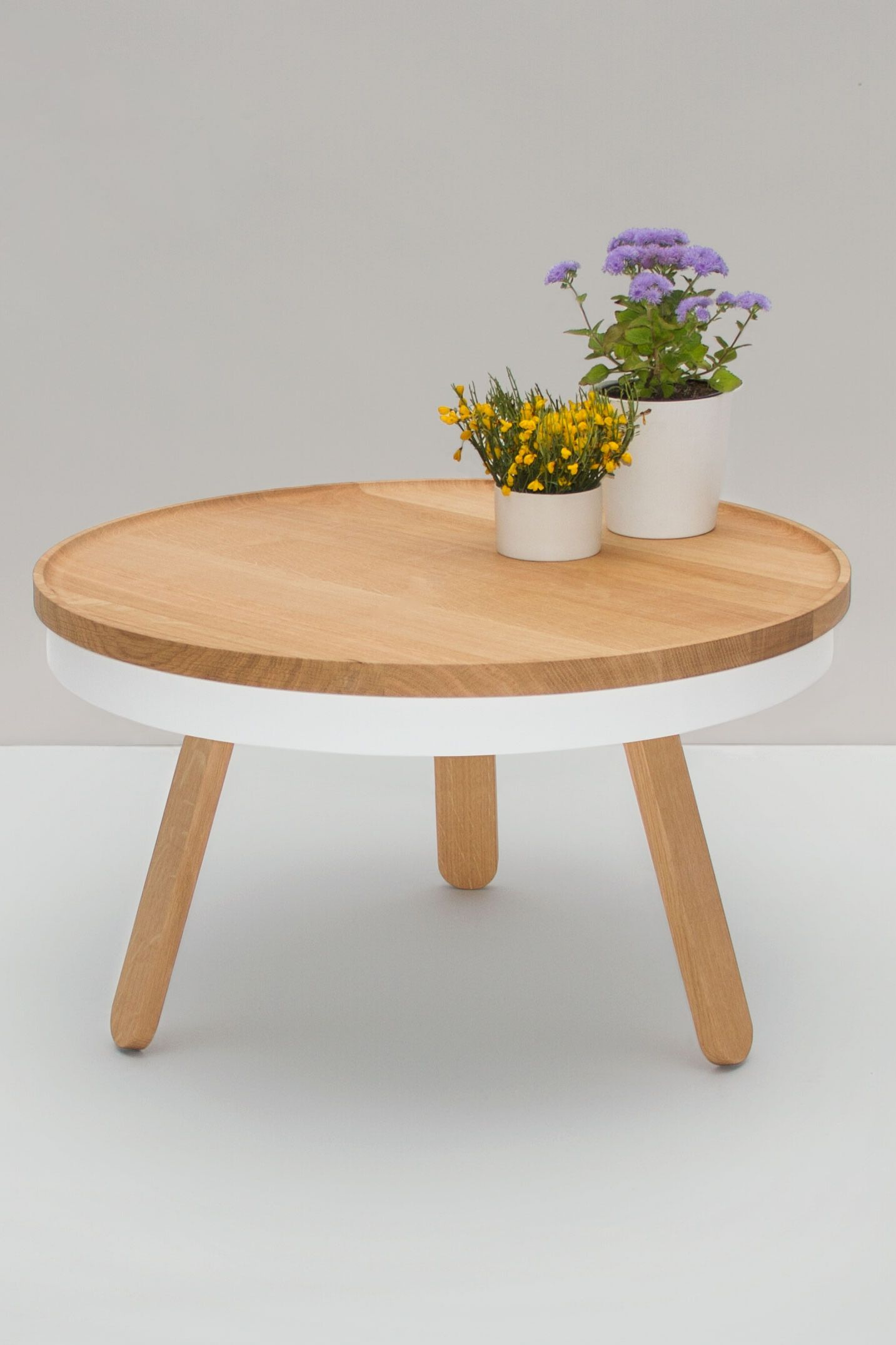 Oak Wood And White Center Table Center Table Table Coffee Table Furniture [ 2149 x 1433 Pixel ]