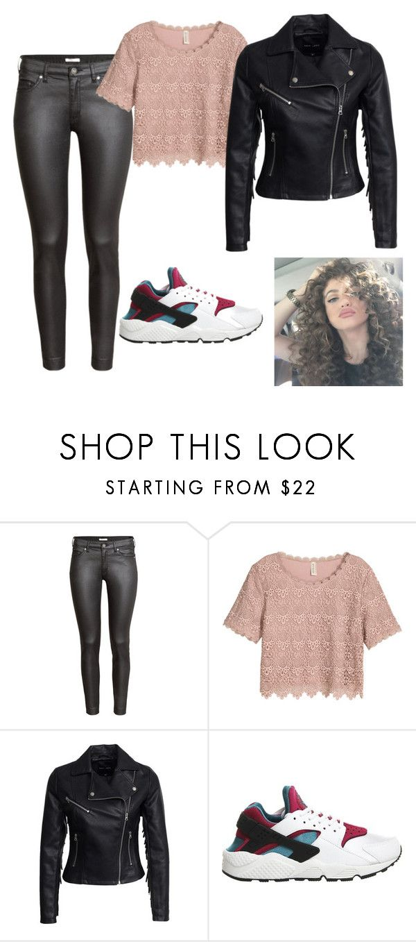 """Untitled #222"" by teszter0528 on Polyvore featuring H&M, New Look and NIKE"