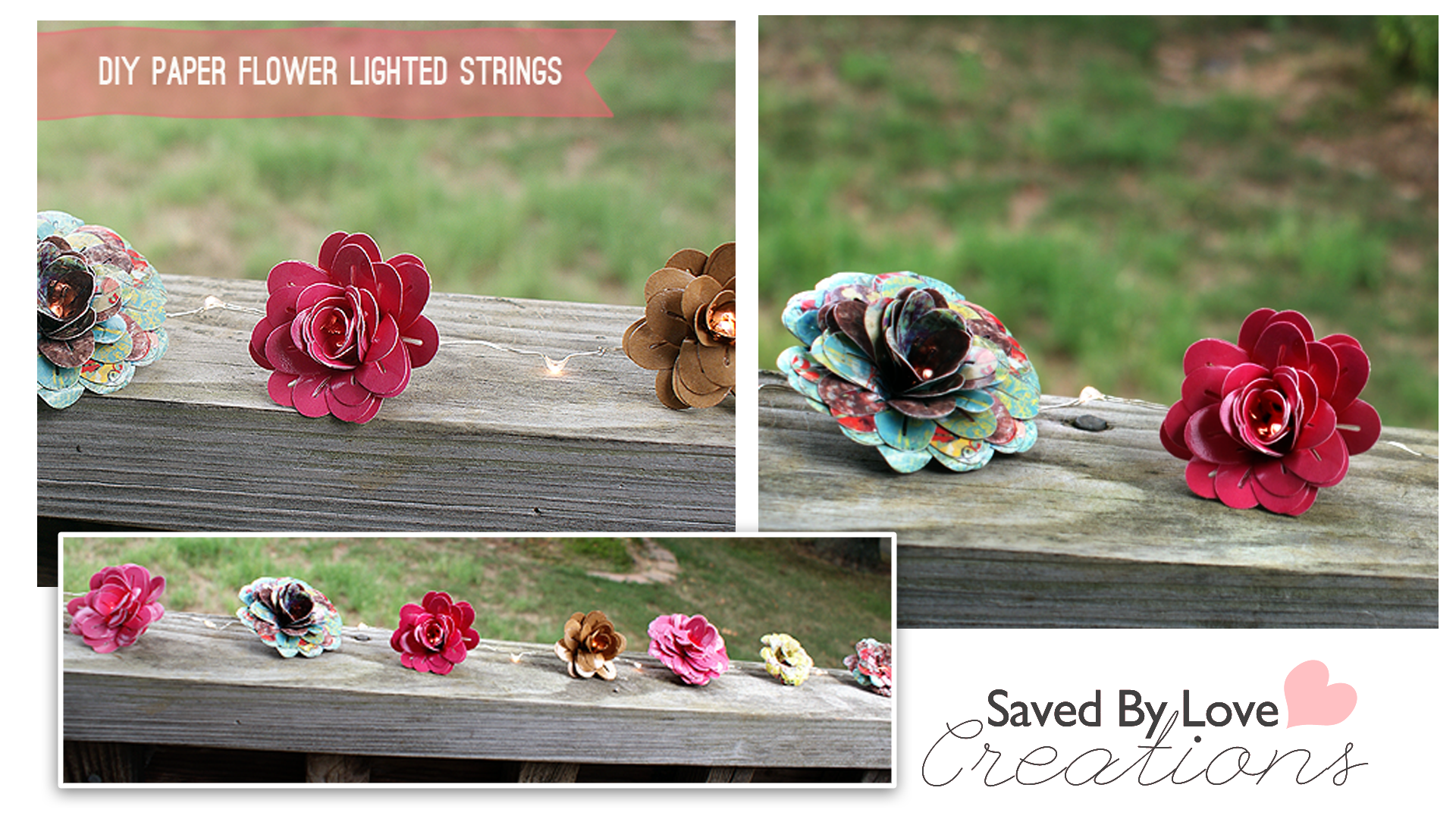 Video:  Paper Flowers and Flower Light Strings using an EK Tools Dimensional paper punch