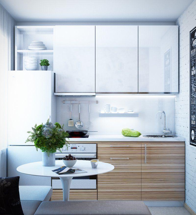 Угловая маленькая кухня в хрущевке с холодильником ...