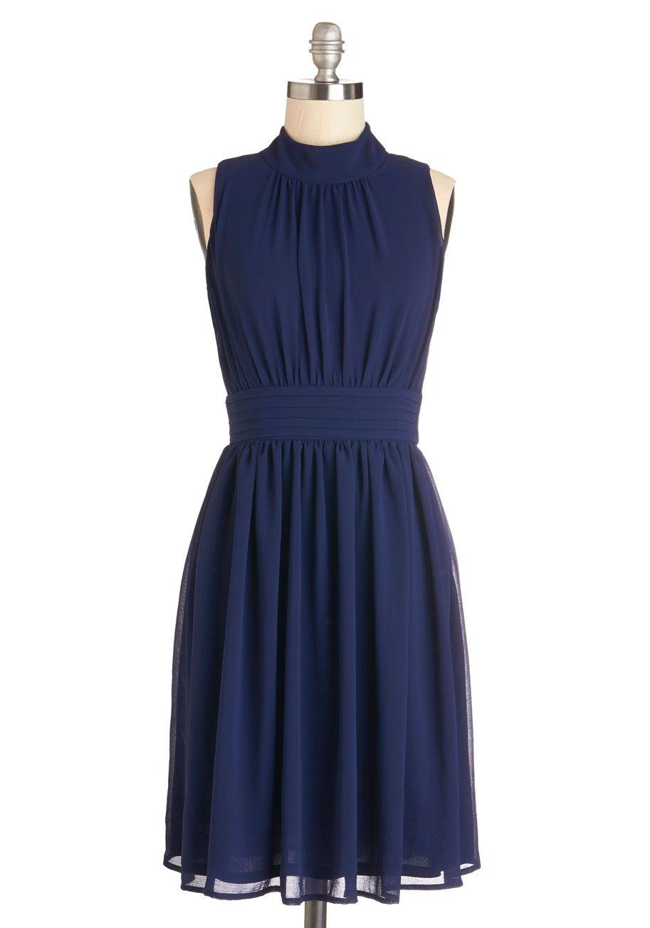 Windy city dress in navy modcloth blue wedding dresses
