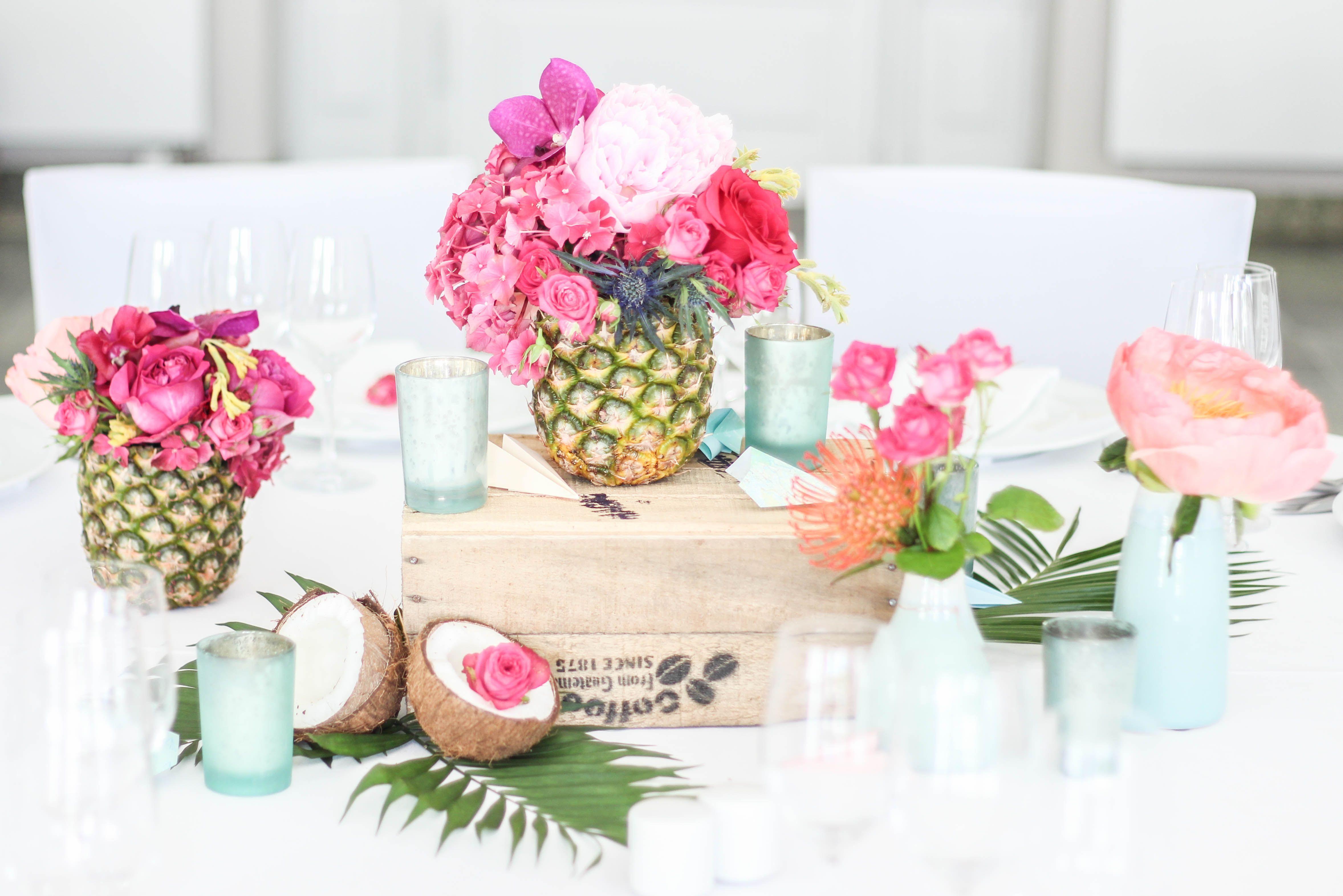 Voll Im Tropen Trend Exotisch Flippige Hochzeitsdekoration In