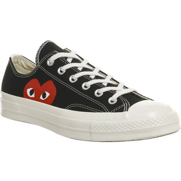 2a8b4bc4a511 COMME DES GARCONS Converse 70s x play cdg trainers ( 140) ❤ liked on  Polyvore