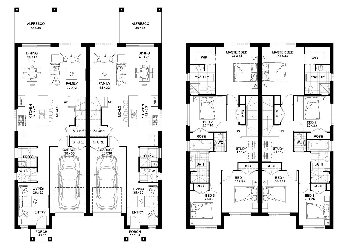 Oak 42 - Duplex Level - Floorplan by Kurmond Homes - New Home ...