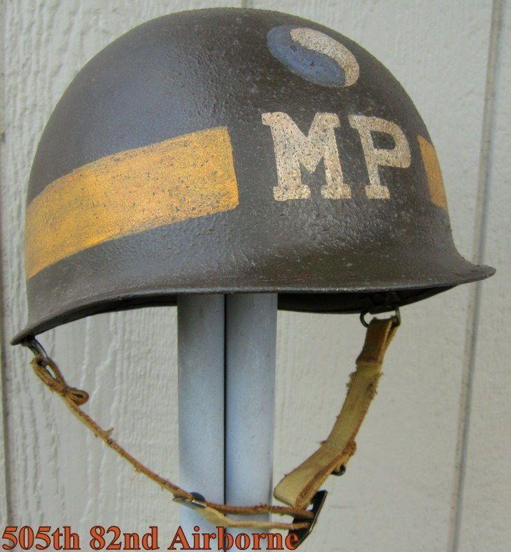Wwii M 1 Helmet 29th Infantry Division Mp Capacete Elmo